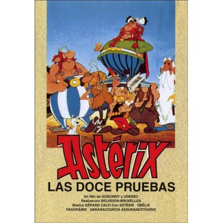 Astérix. Las doce pruebas. DVD. Dibujos animados de Goscinny y Uderzo