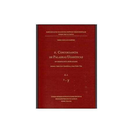 Concordancia de palabras ugaríticas en morfología desplegada. 3 vols.