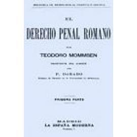 El derecho penal romano. Reimpresión facsimil. 2 vols. - Imagen 1