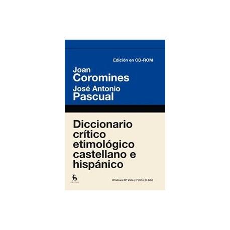 Diccionario crítico etimológico. Edición electrónica
