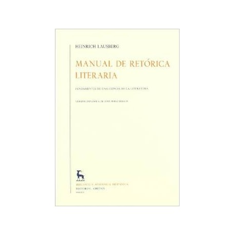 Manual de retórica literaria. Vol II