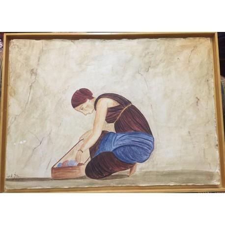 Esclava. Fresco Pompeyano