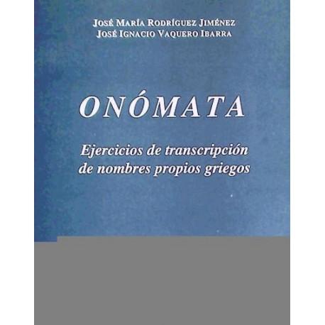 Onómata. Ejercicios de transcripción de nombres propios griegos