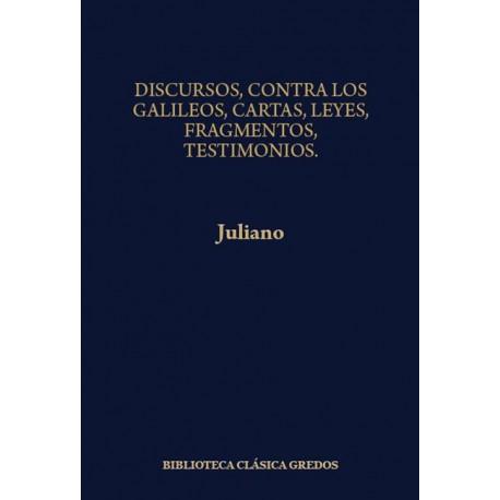 Contra Los Galileos. Cartas y fragmentos. Testimonios. Leyes