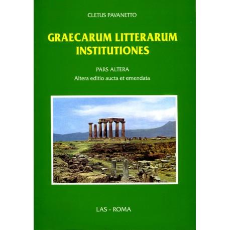 Graecarum litterarum institutiones. Pars Altera