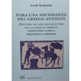 Para una sociología del griego antiguo