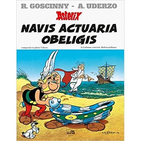 Asterix navis actuaria Obeligis. Edición en latín. Dibujos