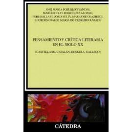 Pensamiento y crítica literaria en el siglo XX (Castellano, catalán, euskera, gallego)