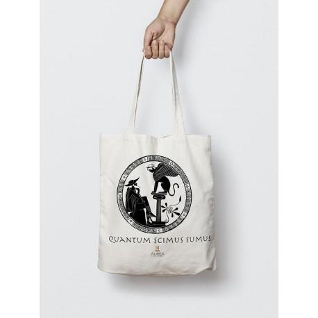 """Bolsa de tela """" Quantum Scimus Sumus"""""""