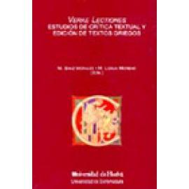 Verae lectiones. Estudios de crítica textual y edición de textos griegos - Imagen 1