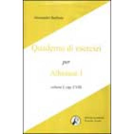 Quaderno di esercizi per Athènaze I. vol. I, cap. I-VIII.
