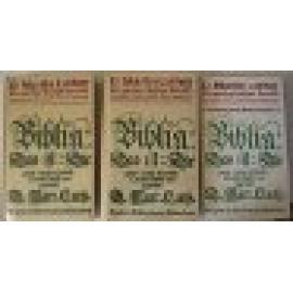 D. Martin Luther. Die gantze Heilige Schrift. Deudsch 1545/Auffs new zugericht. 3 Band - Imagen 1