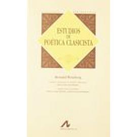 Estudios de poética clasicista. - Imagen 1