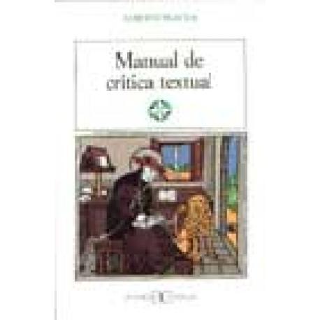 Manual de crítica textual