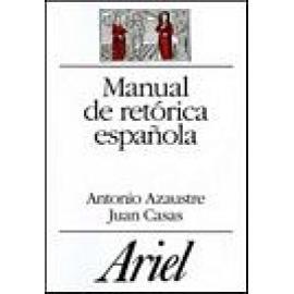 Manual de retórica española. - Imagen 1