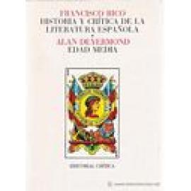 Historia y crítica de la literatura española. Vol I: Edad Media. - Imagen 1