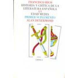 Historia y crítica de la literatura española. Vol I: Edad Media. Suplemento. - Imagen 1