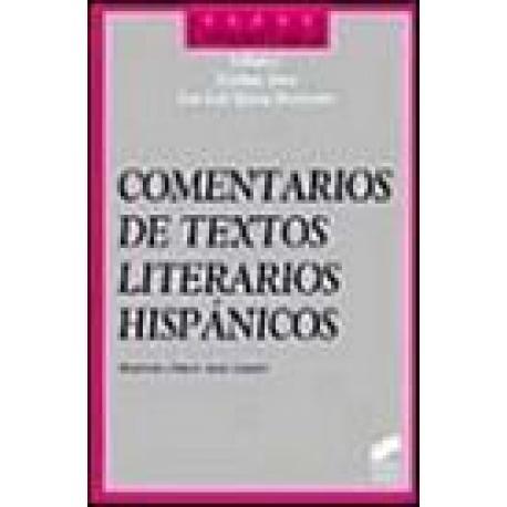 Comentario de textos literarios hispánicos