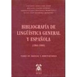 Bibliografía de lingüística general y española. (1964-1990).Volumen índices - Imagen 1