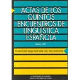 Actas de los quintos encuentros de lingüística española - Imagen 1