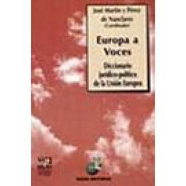 Europa a voces. Diccionario jurídico-político de la Unión Europea. - Imagen 1