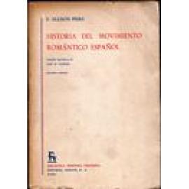 Historia del movimiento romántico español. 2 vols. - Imagen 1