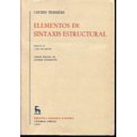 Elementos de sintaxis estructural. 2 vols. - Imagen 1