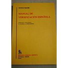 Manual de versificación española - Imagen 1