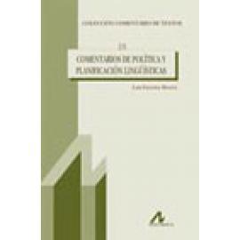 Comentarios de política y planificación lingüísticas - Imagen 1