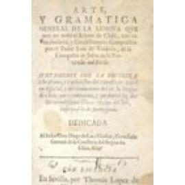 Arte y Gramática general de la lengua que corre en todo el Reino de Chile - Imagen 1