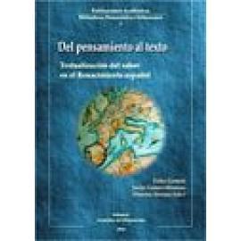 Del pensamiento al texto. Textualización del saber en el Renacimiento español - Imagen 1