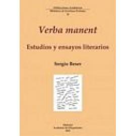 Verba manent. Estudios y ensayos literarios - Imagen 1