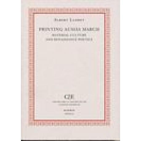 Printing Ausiàs March. Material culture and renaissance poetics